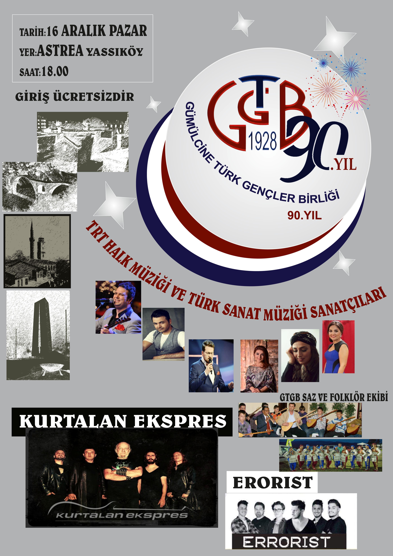 G.T.G.B'nin 90. kuruluş yılı coşkuyla kutlanacak