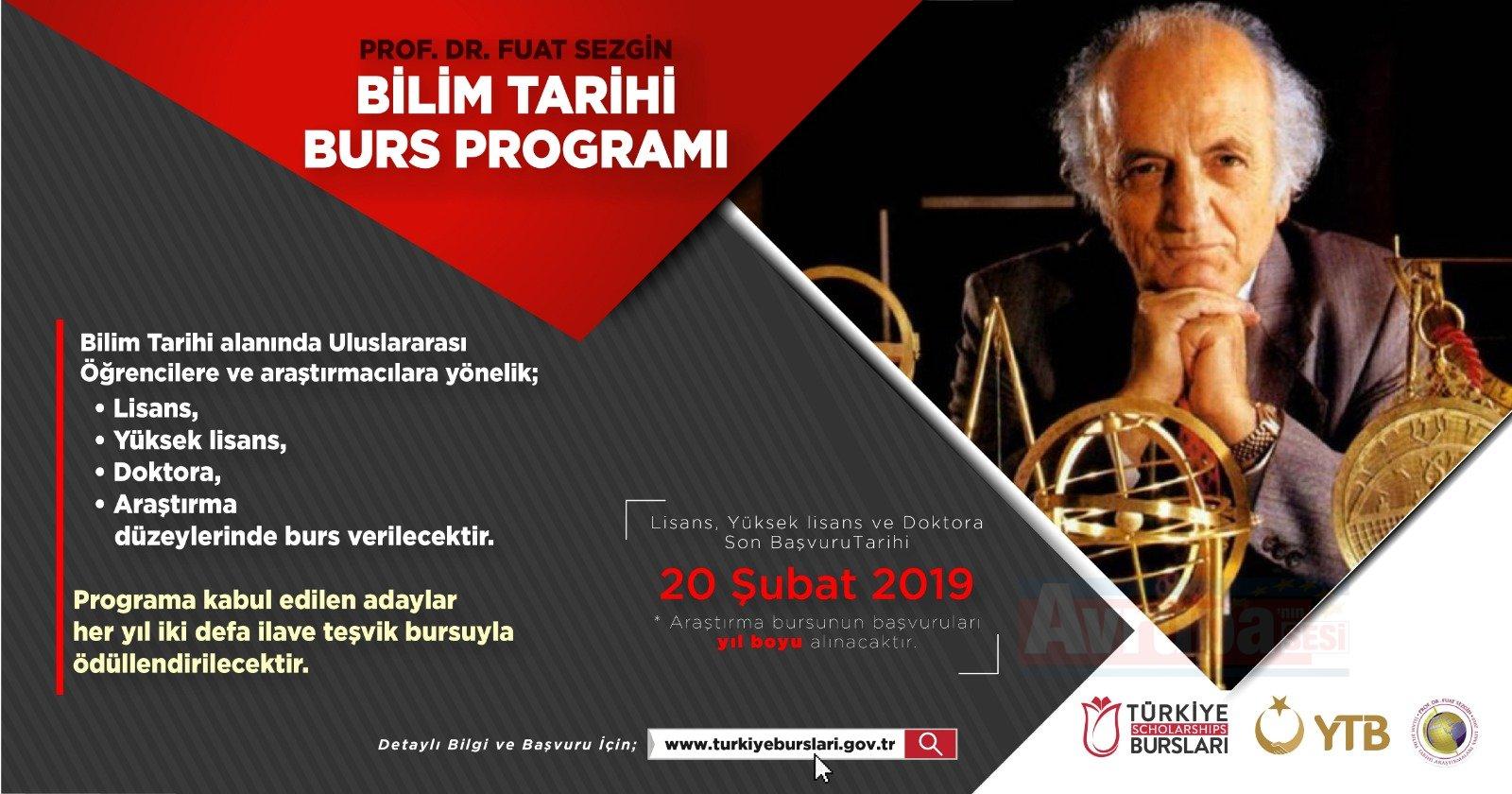 "YTB'den ""Prof. Dr. Fuat Sezgin Bursu"""