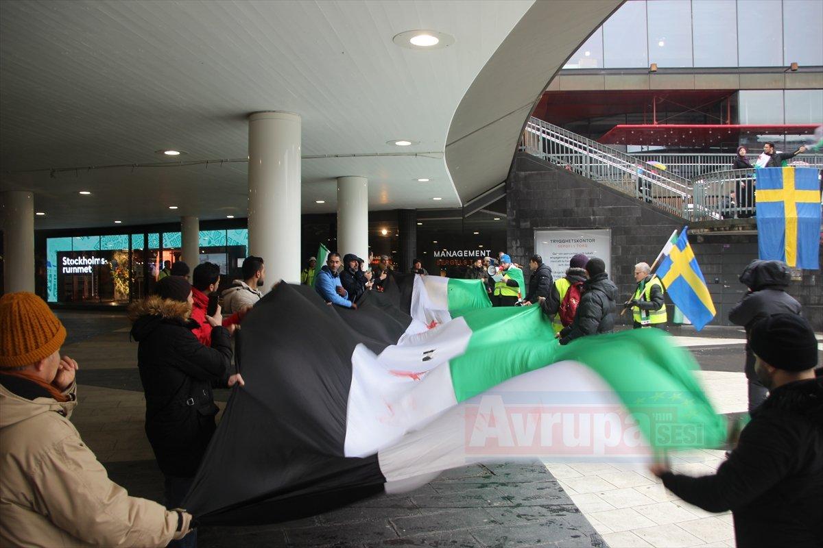 Esed rejimi protesto edildi