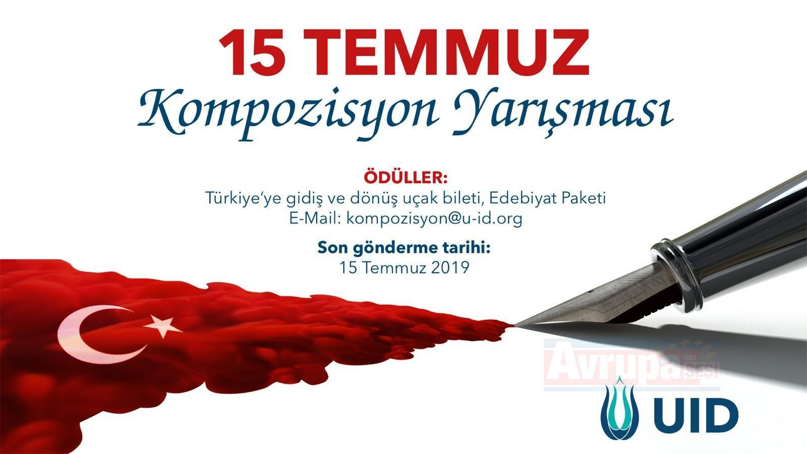 15 TEMMUZ Kompozisyon Yarışması Ödülleri Muhteşem