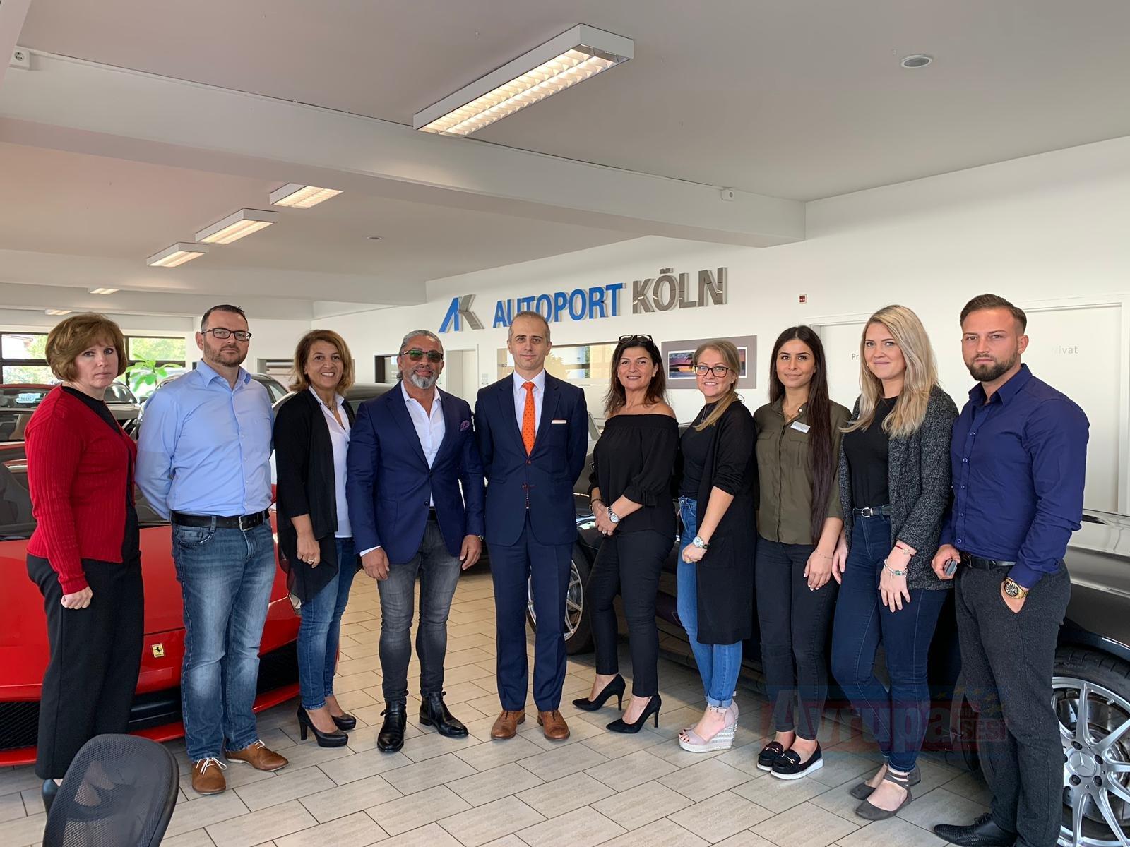 Köln Başkonsolosu Erciyes, AK Autoport'u ziyaret etti