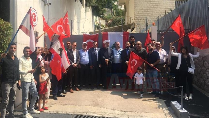 Lübnan'daki Türkmenlerden Türkiye'ye destek