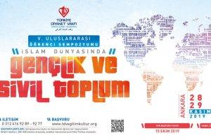"""Türkiye Diyanet Vakfı'ndan """"İslam Dünyasında Gençlik ve Sivil Toplum"""" sempozyumu"""