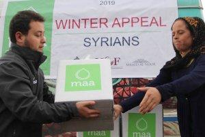 Avustralya merkezli kuruluştan Suriyeli aileye gıda yardımı
