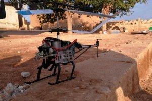 YPG/PKK'ya ait olduğunu drone helikopteri düşürdü