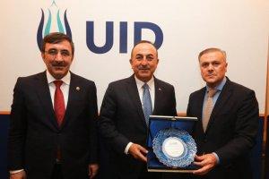 Çavuşoğlu, UID yönetim kurulu üyeleriyle bir araya geldi