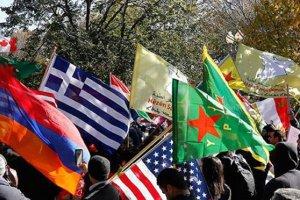 ABD'de Ermeni dernekleri ile PKK yandaşlarından Türkiye karşıtı eylem