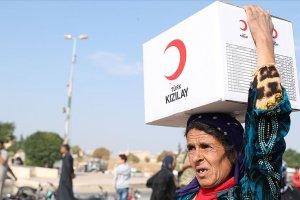 Suriyelilerin terörden arındırılan bölgelere dönüşüne Kızılay desteği